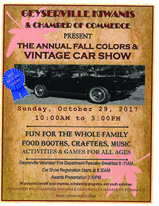 Geyserville Fall Colors Car Show 2017